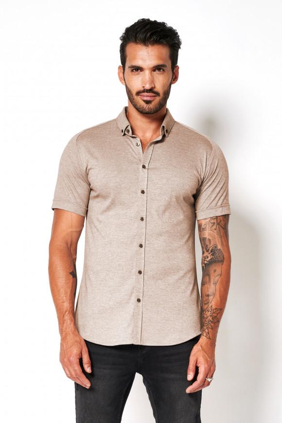 Jerseyhemd »Modern Button Down« Light Brown